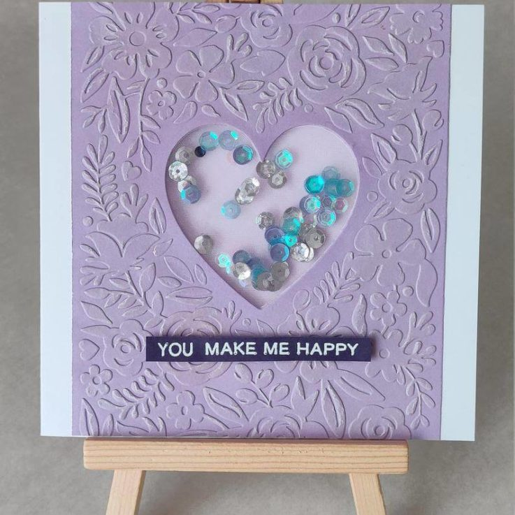 Shaker Card, handmade, bespoke card, with love, appreciation, birthday, for you