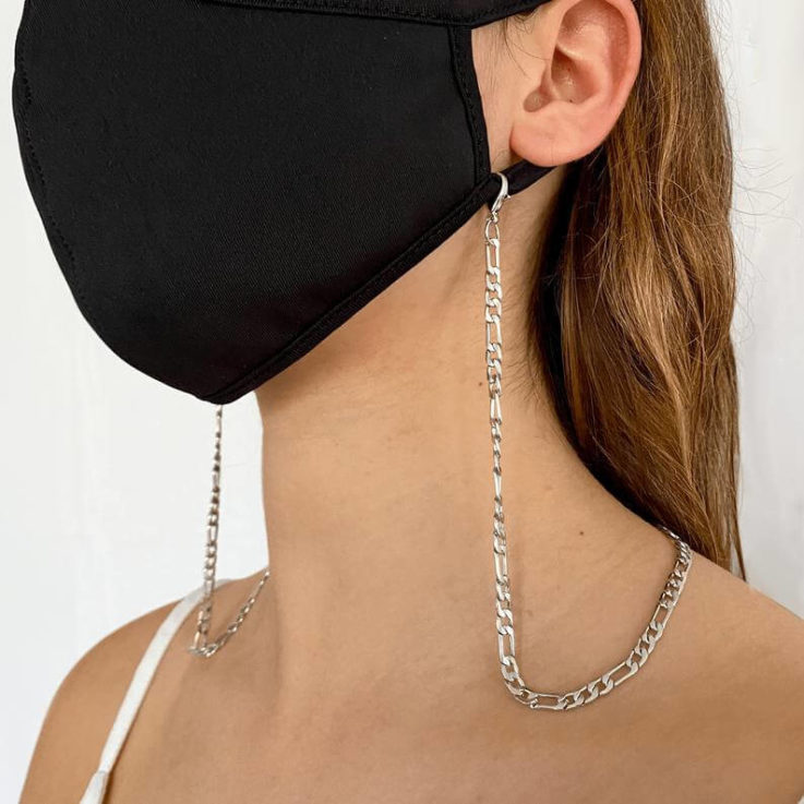 Silver classic mask chain