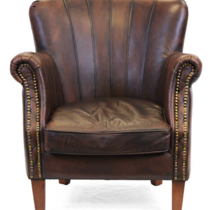 Sloane Leather Armchair Professor Chair Fireside Chair Hall Chair