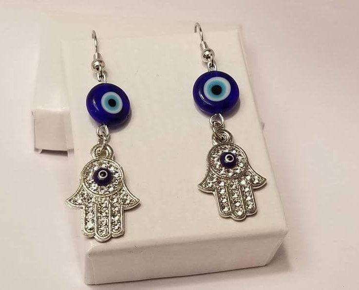 Spinner Lucky Evil eye earrings