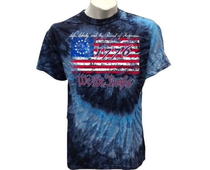 Tie Dye T shirt Betsy Ross Flag 1776 We the people vintage USA Flag Patriotic T Shirt