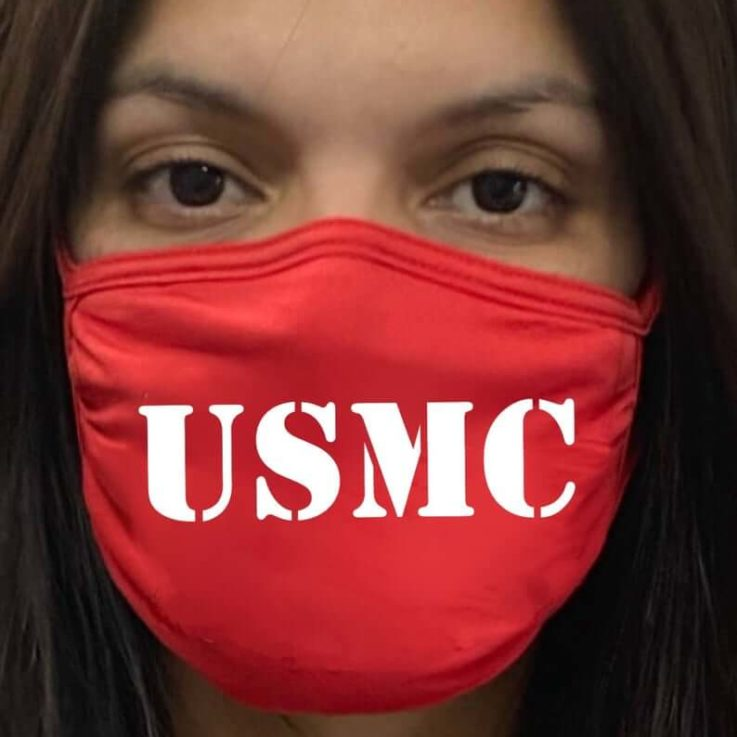 USMC Face Cover Black Protection Cloth Mask is Breathable washable Reusable