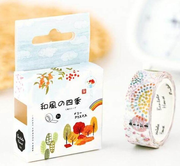 Washi Tape of Depicting the Four Season for Scrapbooking, Journaling, or Planning